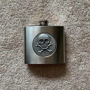 Vintage Dining - Vintage stainless steel skull flask (5 oz)